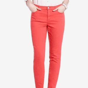 Reitmans Coral Color Stretchy Skinny Leg Jean